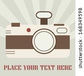 retro camera art vintage design ...   Shutterstock .eps vector #168349598