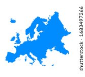 europe continent maps in blue... | Shutterstock .eps vector #1683497266