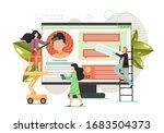 creative team making website... | Shutterstock .eps vector #1683504373
