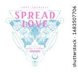 """love yourself  spread love ...   Shutterstock .eps vector #1683507706"