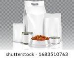 pet food pack mock up set ... | Shutterstock .eps vector #1683510763