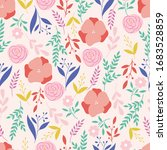 botanical seamless pattern.... | Shutterstock .eps vector #1683528859