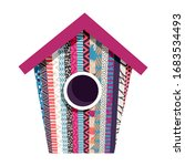 illustration with a birdhouse....   Shutterstock .eps vector #1683534493