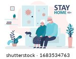 stay home 65 and older banner... | Shutterstock .eps vector #1683534763