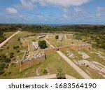 Santa Teresa Fortress. Aerial view of Fort Santa Teresa, Rocha, Uruguay.