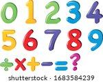 kids colored cartoon number set.... | Shutterstock .eps vector #1683584239