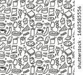 fast food pattern. seamless... | Shutterstock .eps vector #1683585556