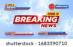 breaking news. covid 19. wuhan. ... | Shutterstock .eps vector #1683590710
