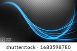 abstract blue wavy line of... | Shutterstock .eps vector #1683598780