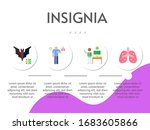 insignia flat icon set on theme ... | Shutterstock .eps vector #1683605866
