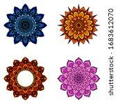 set of four round mandalas for...   Shutterstock .eps vector #1683612070