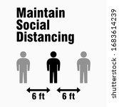 maintain social distancing 6... | Shutterstock .eps vector #1683614239