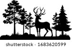 vector vintage forest landscape ... | Shutterstock .eps vector #1683620599