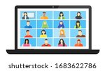 online class. stay school learn ... | Shutterstock .eps vector #1683622786