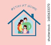 family stay at home awareness... | Shutterstock .eps vector #1683633370