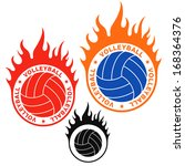 volleyball. logo. vector... | Shutterstock .eps vector #168364376