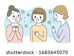 cartoon cute coronavirus  covid ... | Shutterstock .eps vector #1683645070