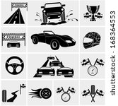 racing and speed related icons... | Shutterstock .eps vector #168364553