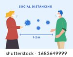 social distancing. space... | Shutterstock .eps vector #1683649999