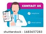 vector card. doctor as a...   Shutterstock .eps vector #1683657283