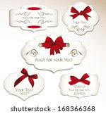 set of elegant cards with red...