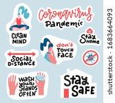 coronavirus covid 19 prevention ... | Shutterstock .eps vector #1683664093