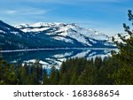 Donner Lake With Reflection Of...