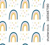 seamless pattern with rainbow...   Shutterstock .eps vector #1683687580