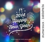 new year  handwritten... | Shutterstock .eps vector #168369656