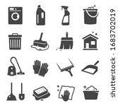 cleaning black icon  domestic... | Shutterstock .eps vector #1683702019