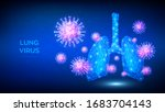 lung virus. abstract low...   Shutterstock .eps vector #1683704143