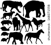 silhouettes of animals | Shutterstock .eps vector #168371558