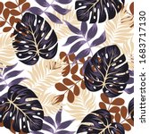 tropical seamless pattern with... | Shutterstock .eps vector #1683717130