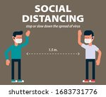 social distancing  long... | Shutterstock .eps vector #1683731776
