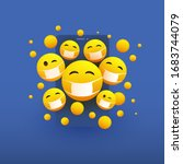 various yellow emoticons... | Shutterstock .eps vector #1683744079