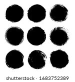 abstract grunge round banners ... | Shutterstock .eps vector #1683752389