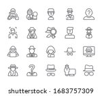 set of anonymous related vector ... | Shutterstock .eps vector #1683757309