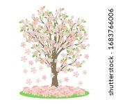 sakura or cherry tree  which...   Shutterstock .eps vector #1683766006