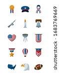 flat style icon set design ...   Shutterstock .eps vector #1683769669
