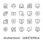 set of antivirus related vector ... | Shutterstock .eps vector #1683769816