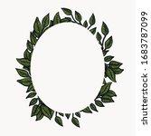 floral border frames. spring... | Shutterstock .eps vector #1683787099