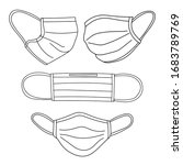 medical mask or surgical mask... | Shutterstock .eps vector #1683789769