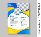 business flyer template with... | Shutterstock . vector #1683790969