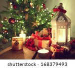 Shining Candles With Christmas...