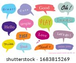 hand drawn set of colorful... | Shutterstock .eps vector #1683815269