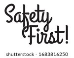 safety first logo. it is... | Shutterstock .eps vector #1683816250