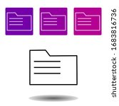 folder icon. simple outline...