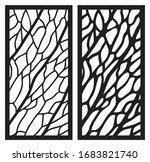 leaf veins laser cut panel. set ... | Shutterstock .eps vector #1683821740
