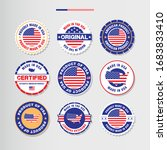 made in   product of usa labels ... | Shutterstock .eps vector #1683833410