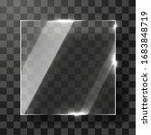 empty transparent glass frame.... | Shutterstock .eps vector #1683848719